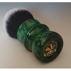 30mm Tuxedo shaving brush with Malachite Green Pearl
