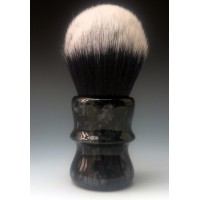 30mm Tuxedo shaving brush with Black and Silver Pearl