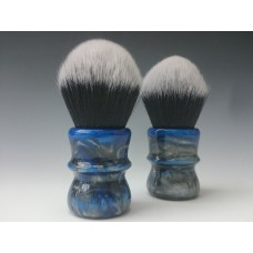 Blue - SIlver pearl Tuxedo shaving brush