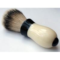 Bell shaving brush - Black-Ivory - 26mm Silvertip