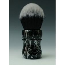 30mm Tuxedo shaving brush with Silver Floral