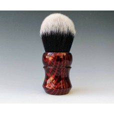 M60 shaving brush Red Carbon effect